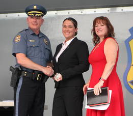 Hazlet Township honored its police officers and swore in two new recruits on Tuesday, July 20 at Veterans Park.