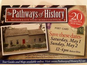 Morris County's Pathways to History Guided Tour includes Morristown Locations; May 1 & 2
