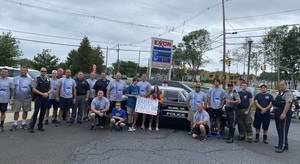 WATCH: Middletown Passes to Holmdel -   Police Departments Participate in 38th Annual Torch Run for the Special Olympics