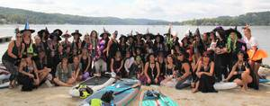 Sparta's Witches Paddle 2021 on Lake Mohawk Raises Funds for DASI