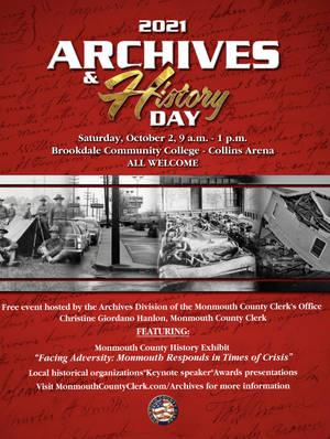 Middletown: You are invited to  Monmouth County Clerk's Annual Archives and History Day, Saturday, Oct. 2.