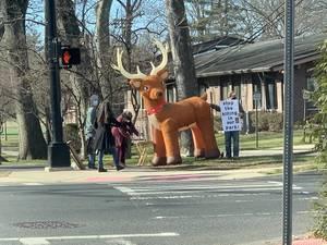 Deer Hunt Opponents Protest at Plainfield's Cedar Brook Park