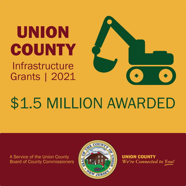 Union County Commissioners Announce 7th Annual Infrastructure Grants, Including ADA Improvements at the Municipal Complex in Roselle Park
