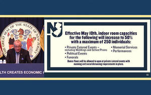 Murphy Announces Loosened Restrictions on Indoor and Outdoor Gatherings