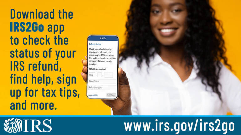 Tax Time Guide: Use the 'Where's My Refund?' tool or IRS2Go app to check tax refund status