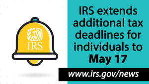 IRS reminds taxpayers of May 17 deadline for individual income tax returns: extensions, other help available