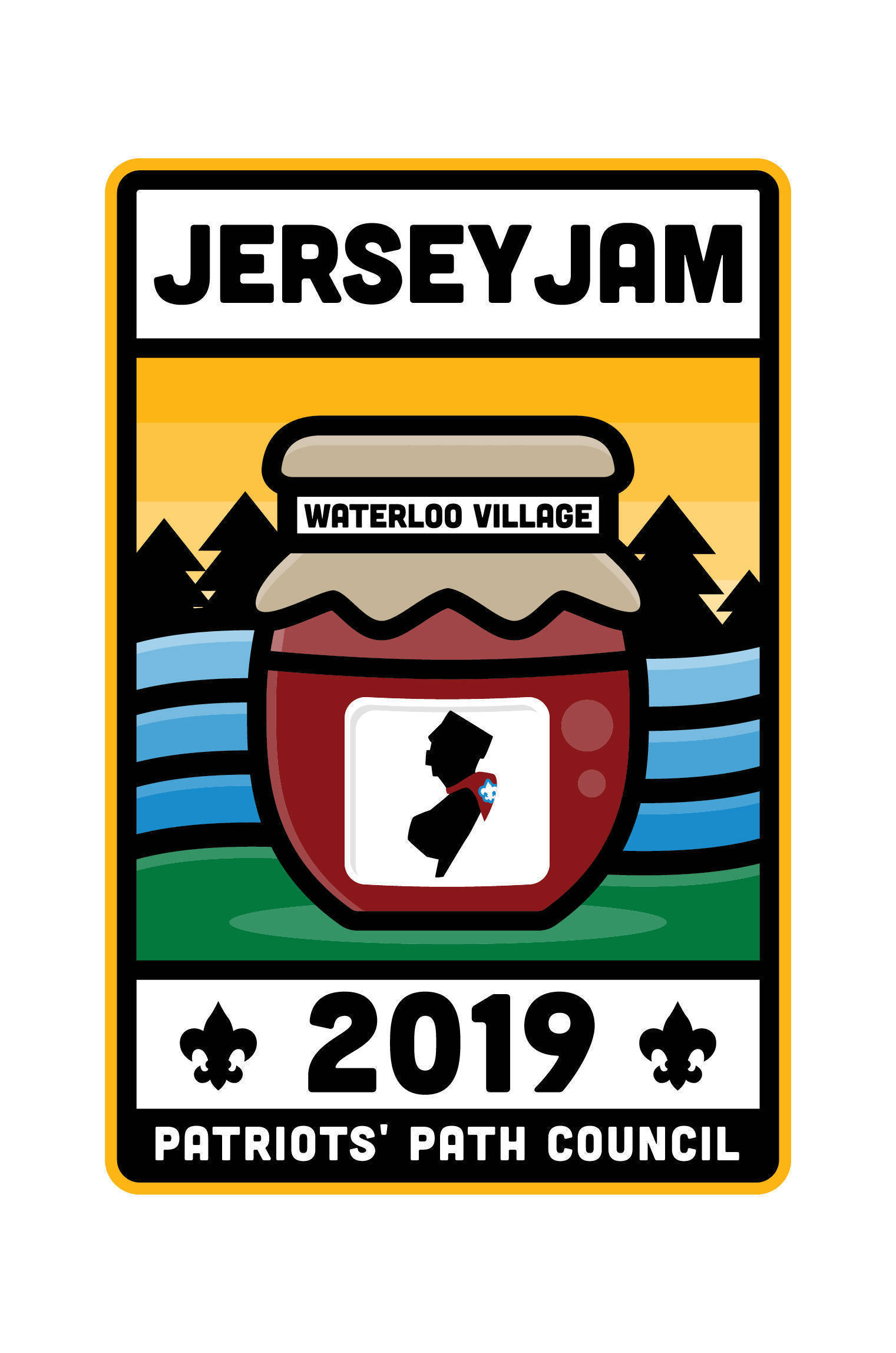 """The """"Jersey Jam 2019"""" Patch"""