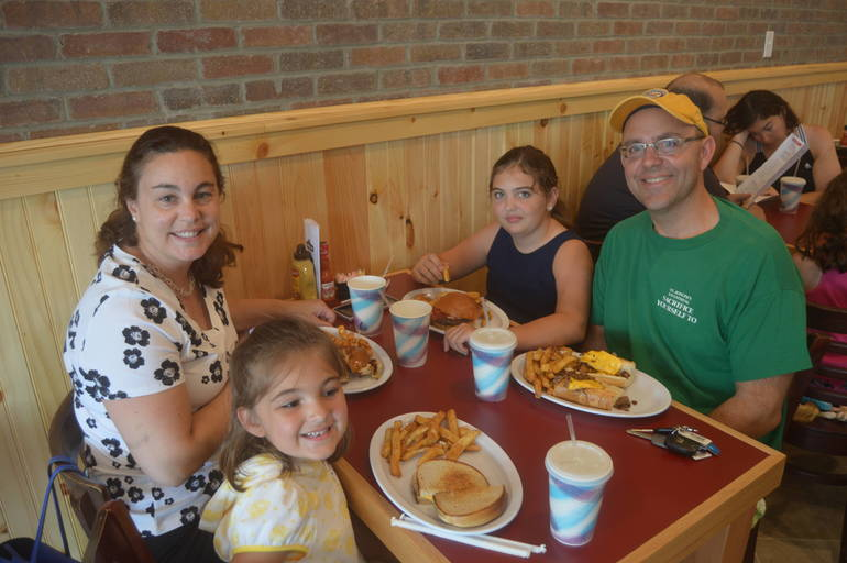 The Jotz family enjoys Sunday breakfast at The Fanwood Grille