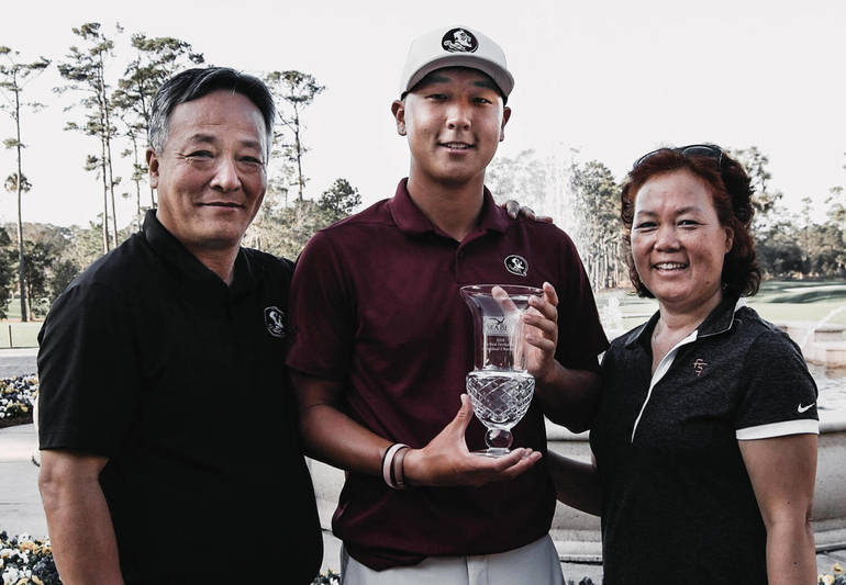 Scotch Plains native John Pak and his parents