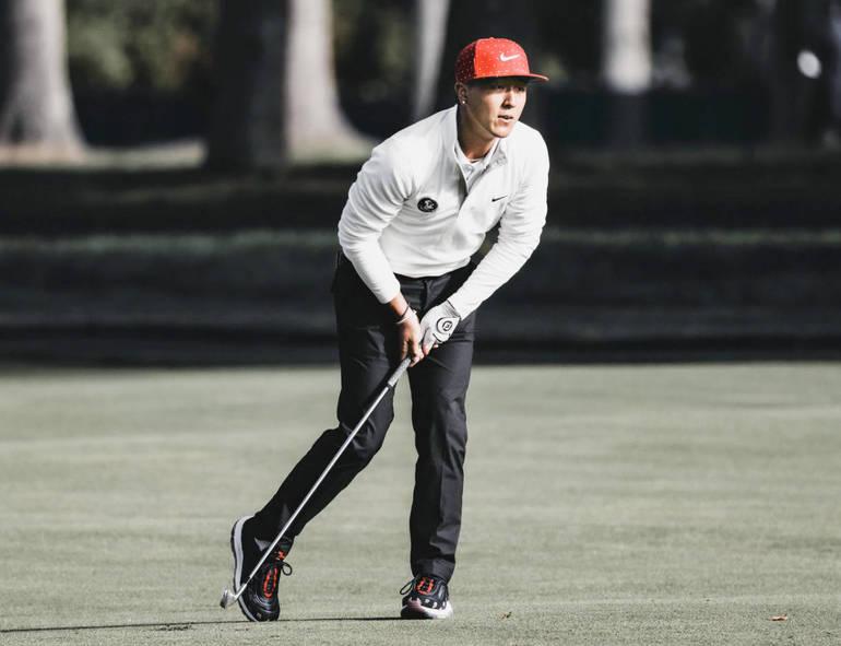 Scotch Plains native John Pak at the U.S. Open on Sunday.