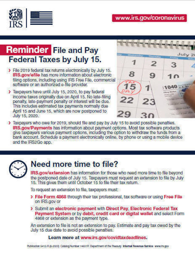 Here are reasons people should file a 2019 tax return; Economic Impact Payment, tax credits available for some
