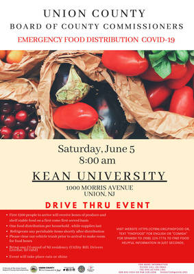Emergency Food Assistance for Union County Residents in June