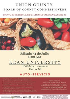Emergency Food Distribution Event for Union County Residents in Need, July 31