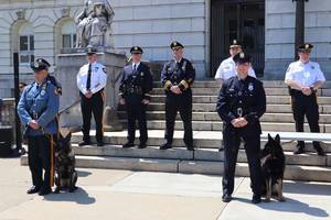 Bergen County Sheriff's Department Holds Canine Training Graduation Ceremony