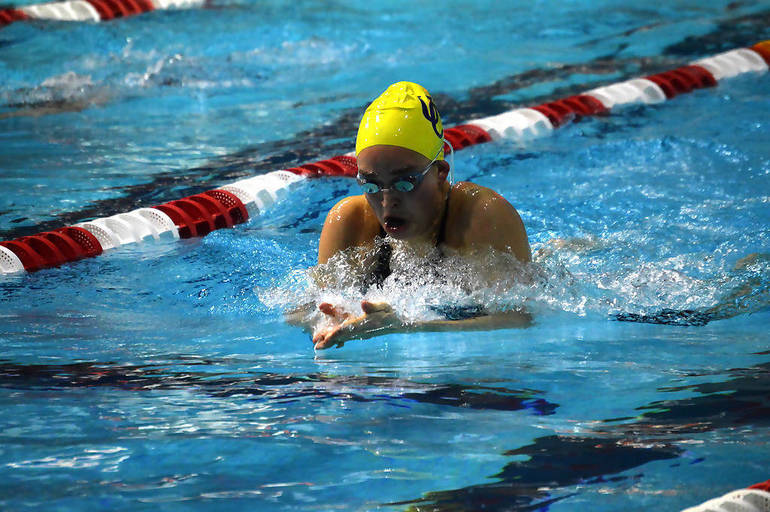 Katelyn Fuhrmann of Union Catholic won the 100 Breaststroke and the 50 Freestyle at the Union County Championships.png