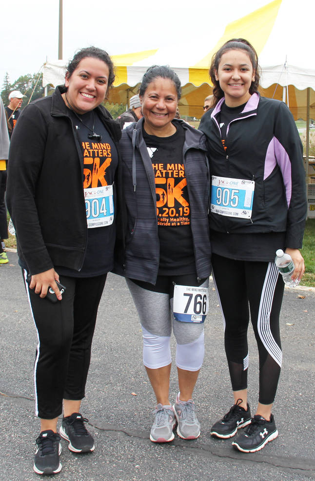 Mom and daughters run in the Madison Area YMCA The Mind Matters 5K