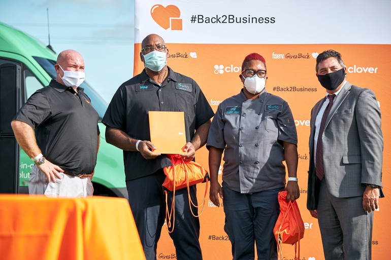 Coral Springs Gets Back2Business as Local Employer Fiserv Presents Local Minority-Owned Businesses $10,000 Grants