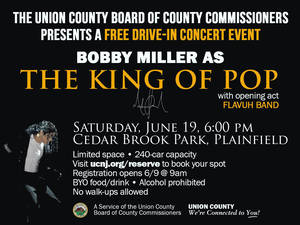 Bobby Miller as the King of Pop to Perform in Plainfield's Cedar Brook Park