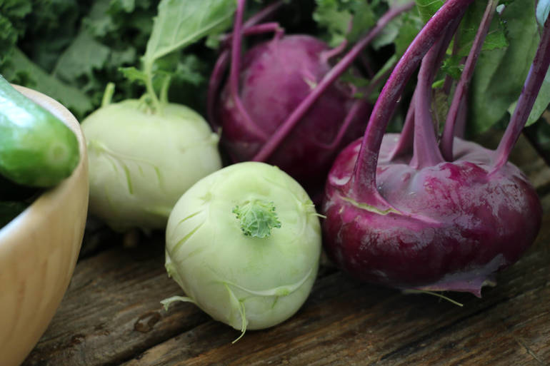 In Season Now: What's That Weird Vegetable? It's Kohlrabi!