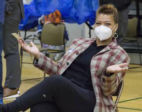 Newark Native Queen Latifah Returns to City to Receive COVID-19 Vaccine