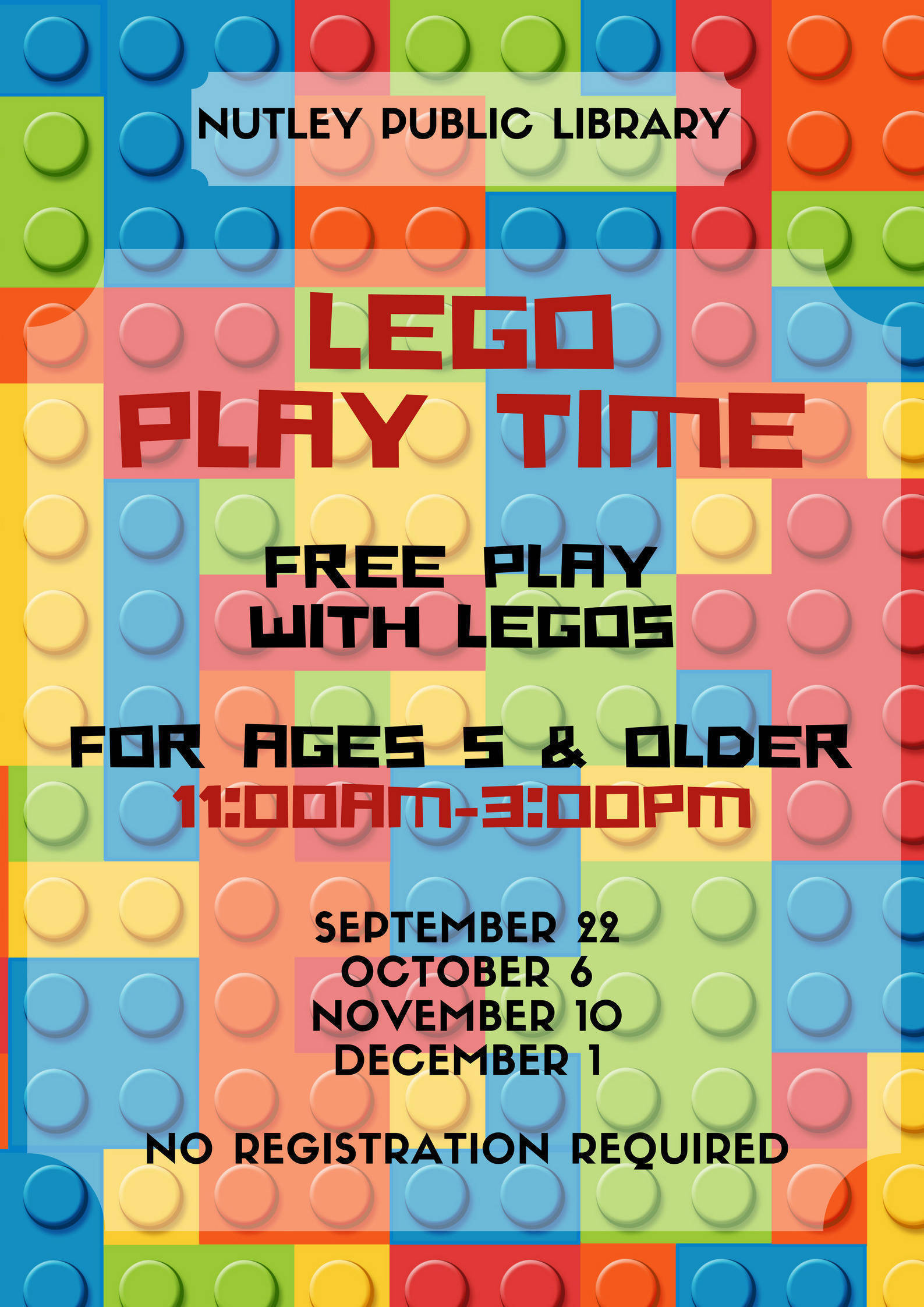 LEGO Play Time at Nutley Public Library