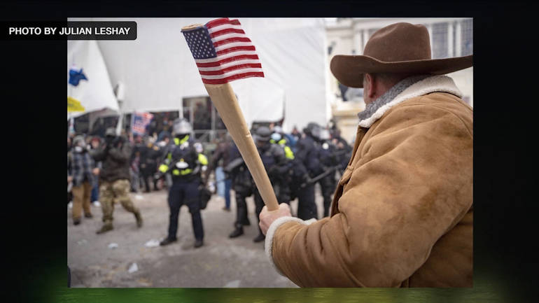 Capitol Hill Riot Rancher with Axe Handle Flag
