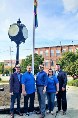 Little Falls Holds Second Annual Rainbow Flag Raising Ceremony