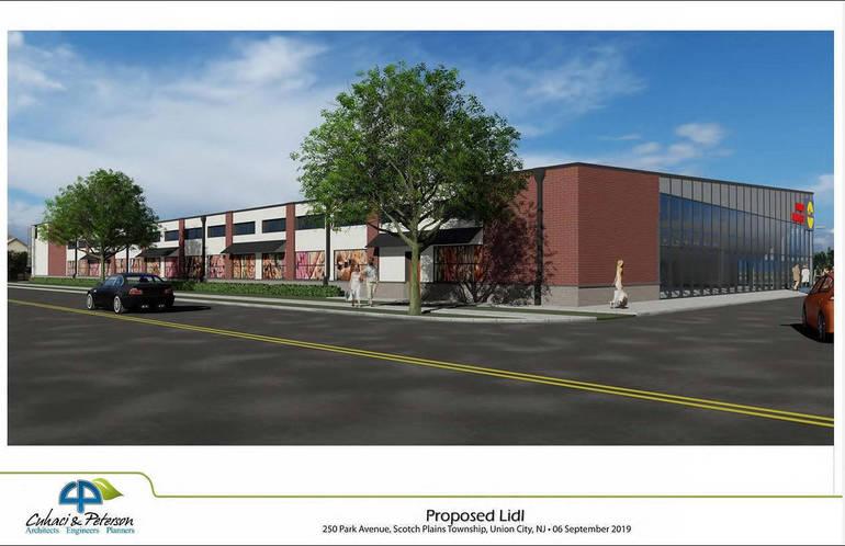 Scotch Plains Lidl store rendering