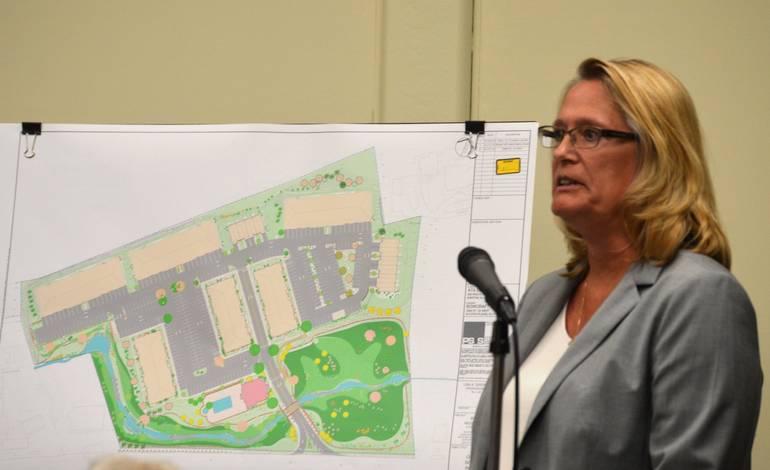 Lisa DiGerolamo, civil engineer, with Bowcraft plan presented in 2016.jpg