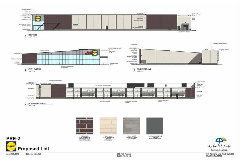 Scotch Plains Lidl store rendering
