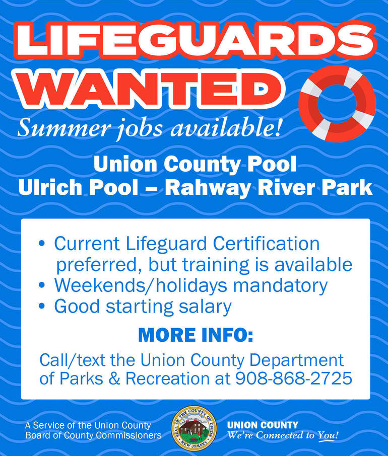 Summer Job Alert: Union County is Hiring Lifeguards