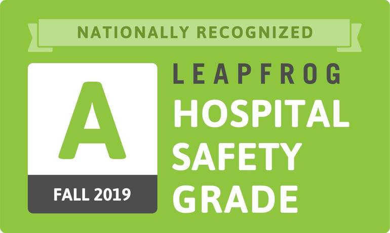 Atlantic Health System Medical Centers Recognized with an 'A' for the Fall 2019 Leapfrog Hospital Safety Grade