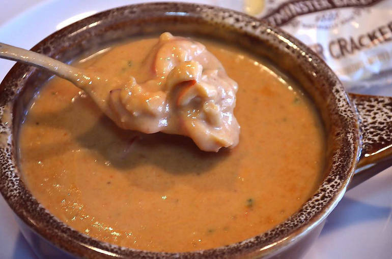 Lobster bisque is made with lobster from Maine at The Fanwood Grille.