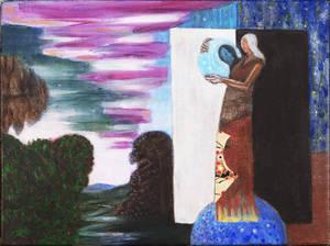 "Local Artist Exhibits ""Urania's Mirror"" at County College of Morris"