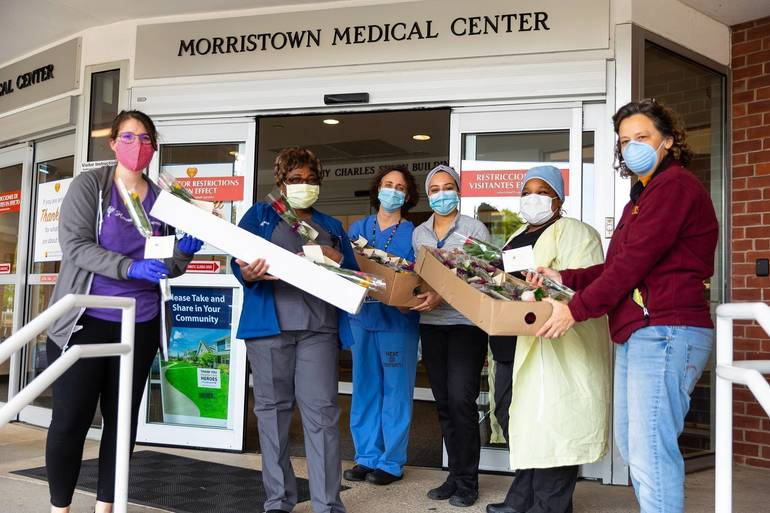 """Mother's Day """"Rose Drop"""" at Morristown Medical Center"""