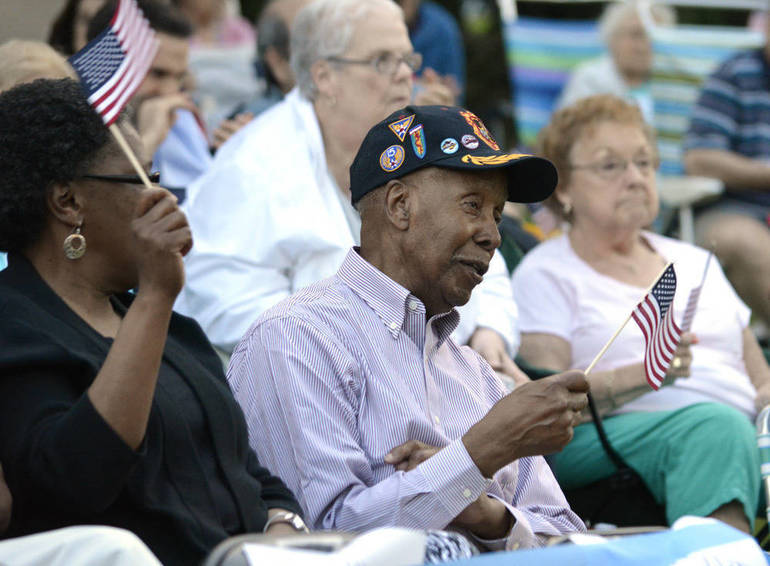 Malcolm Nettingham at the 2015 Scotch Plains-Fanwood Memorial Day Concert.