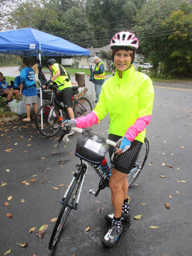 Maria Romano on the 20-mile bike route for Lake Loop 2018 - Bill Woolley.JPG