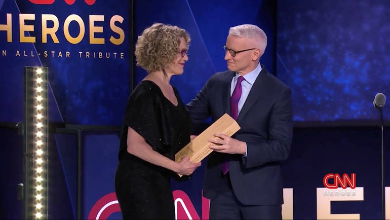 Mary Robinson and Anderson Cooper