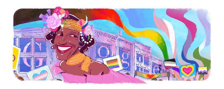 Marsha P. Johnson Google Doodle