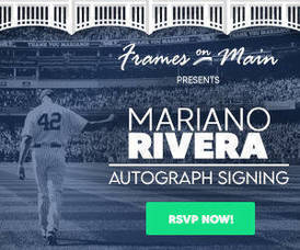 Mariano Rivera is Coming to Legends Gallery in Chatham this Saturday