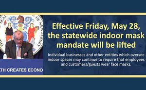 New Jersey Ends Indoor Mask Mandate for People Who Are Fully Vaccinated; Raises Gathering Limits