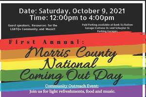 Morris County National Coming Out Day Planned for Oct. 3