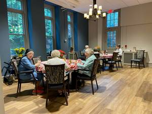 Mount Saint Mary Academy Mercy Guild Hosts Pizza Party for Sisters of Mercy