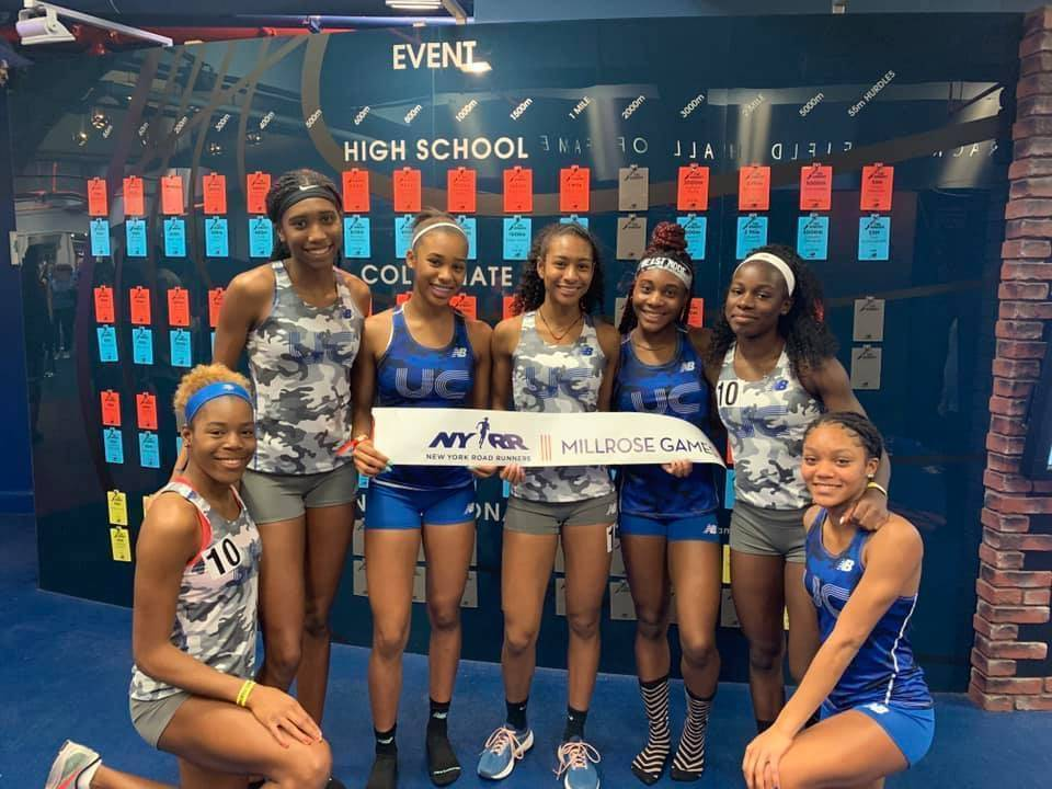 Millrose girls 4x800 and 4x400 2019.JPG