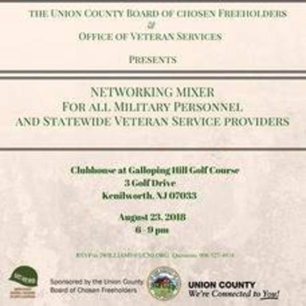 Union County Hosts Free Networking Mixer for All Military Personnel Thursday, Aug. 23