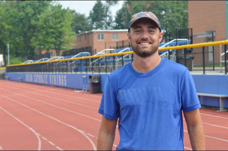 Mike McCabe, Union Catholic track coach on the track.png