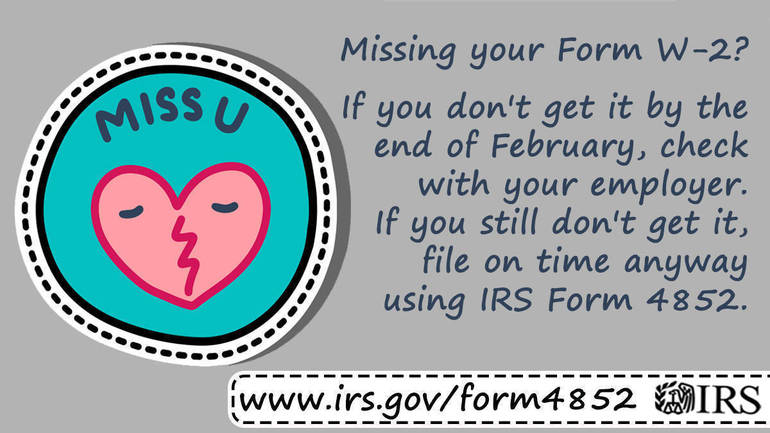 Double-check for missing or incorrect Forms W-2, 1099 before filing taxes