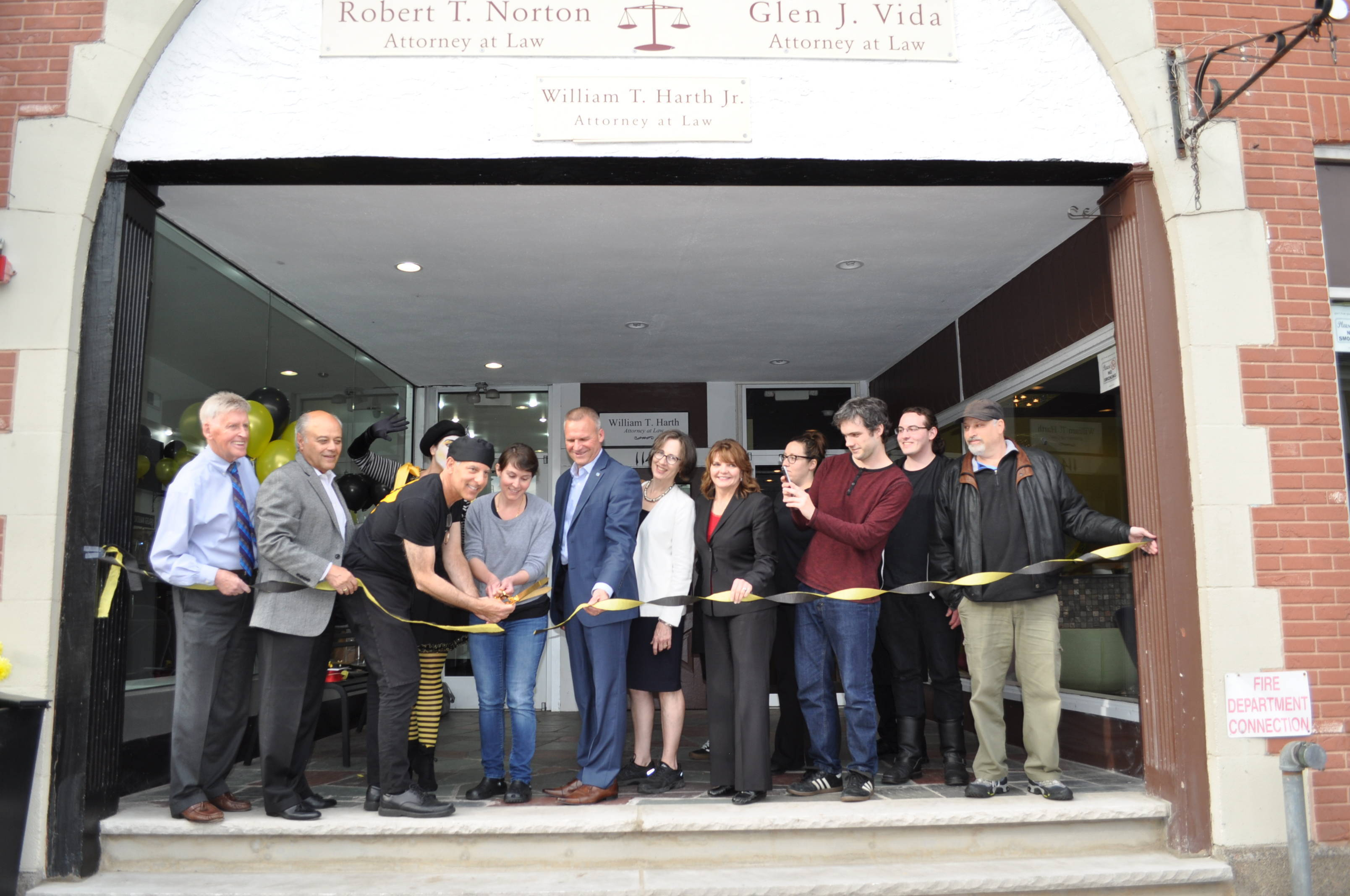 Morano Gelato ribbon cutting.JPG