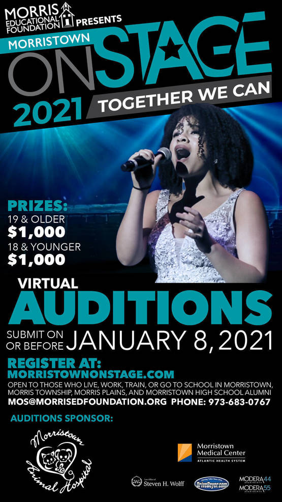 Sign Up for Morristown Onstage; Upload an Audition Video by January 8