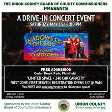 "Union County Presents Free ""Shadows of the 60's"" Drive-In Concert"